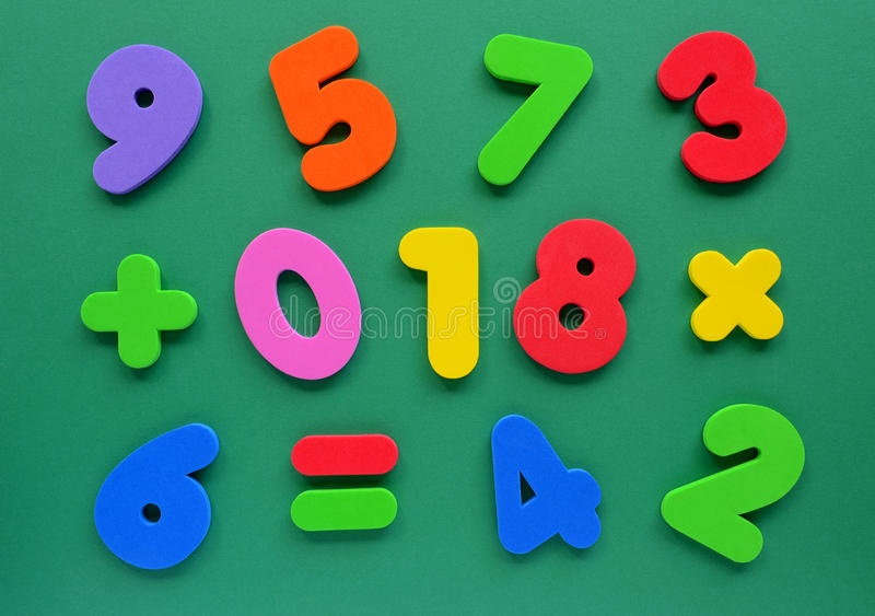 Download Colorful numbers stock image. Image of horizontal, pink - 27965159