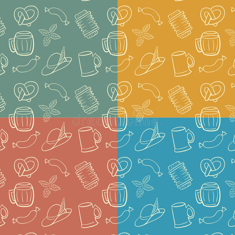Download Colorful Octoberfest Seamless Background. Stock Vector - Image: 32398643