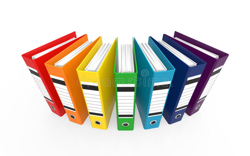 Download Colorful Office Folders stock illustration. Image of file - 30775702