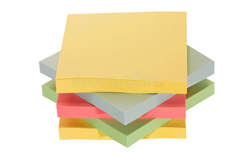 Download Colorful office paper stock image. Image of remember, paper - 1705467