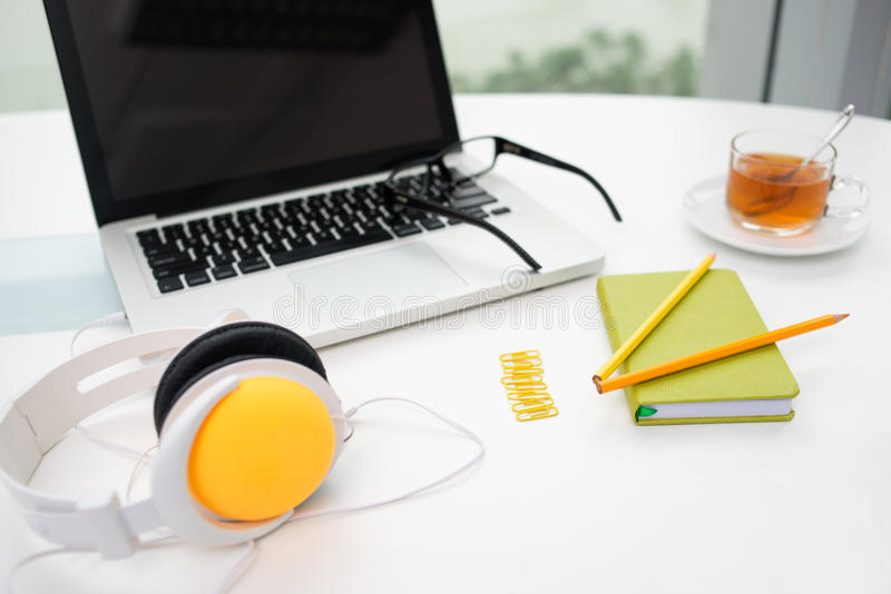 Colorful Office Supplies Royalty Free Stock Photo