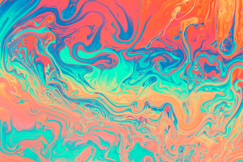 Colorful of oil flow from bubble stock images