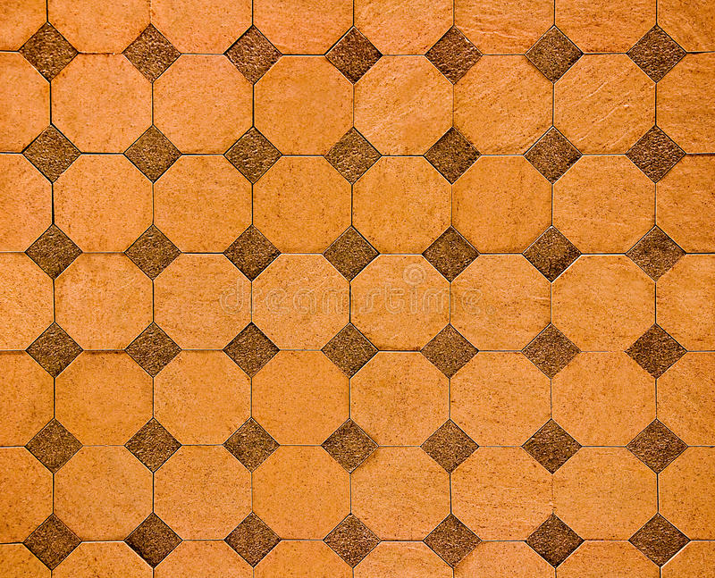 The Colorful of old ceramic floor royalty free stock photos