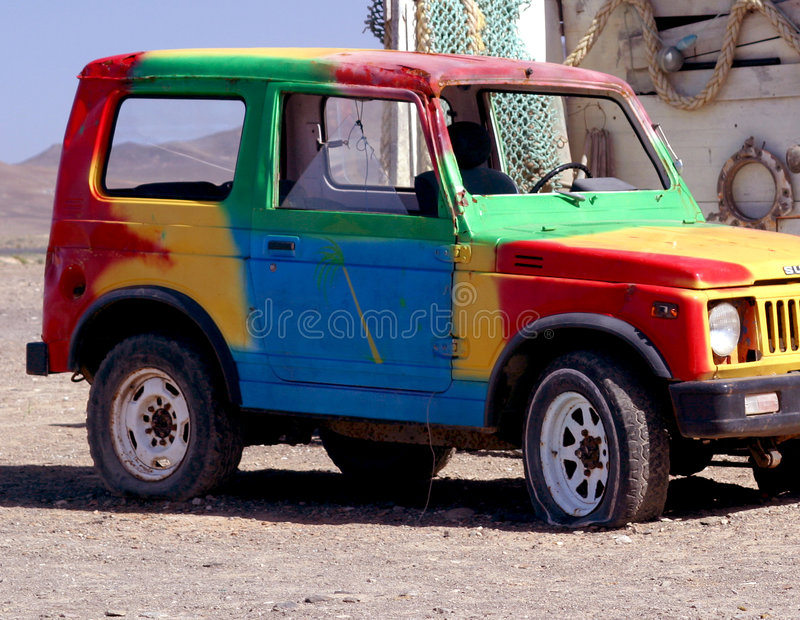 Colorful Old Off Road Car Royalty Free Stock Photos