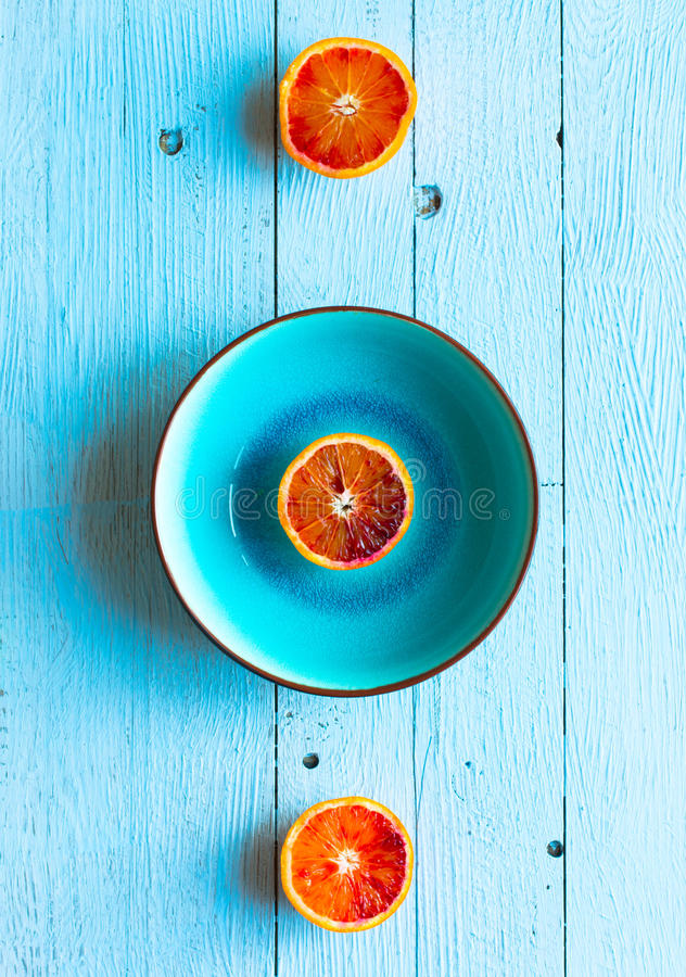 Download Colorful Orange Fruits Over A Light Blue Painted Wood Table Stock  Photo   Image Of