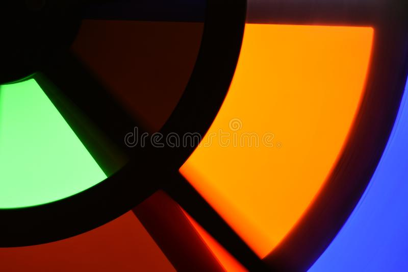 Colorful orange abstract geometric shapes stock photo
