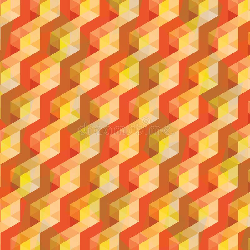 Colorful orange and yellow abstract geometric background and pattern vector illustration