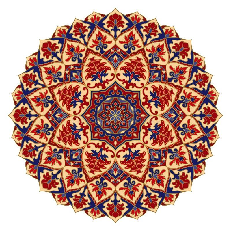 Colorful oriental mandala. Colorful abstract mandala. Design element. Oriental elegant ornament. Indian pattern for curtains vector illustration