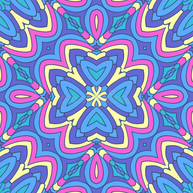 Colorful oriental pattern royalty free illustration