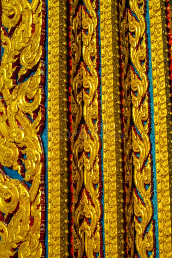 Ornament mosaic on of buddhist temple Wat in Thailand. Colorful ornament in interior and exterior of buddhist temple Wat in Thailand. Thai traditional religious royalty free stock photography