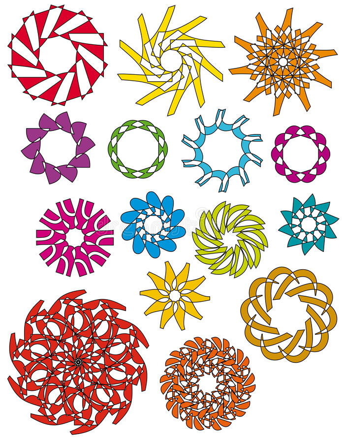 Colorful ornaments collection vector illustration