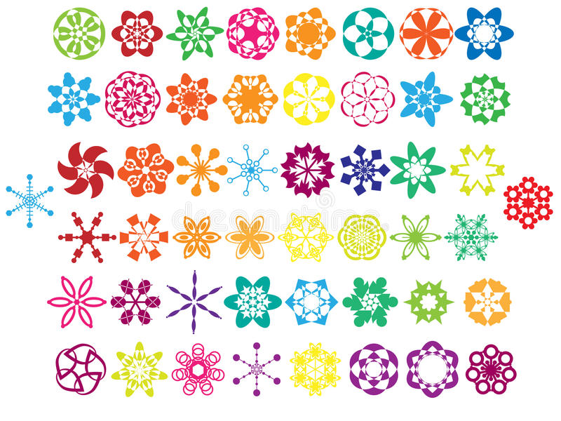 Download Colorful Ornaments Collection Stock Illustration - Image: 14341854