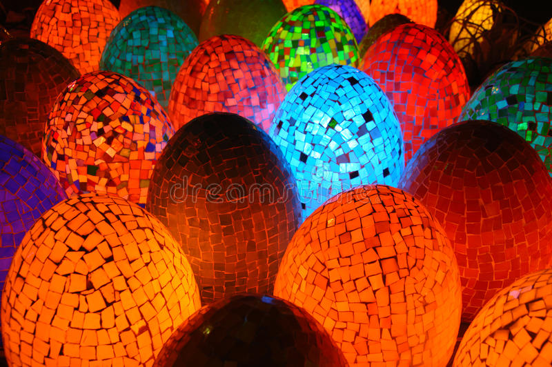Download Colorful Oval Egg Shaped Lamps Stock Photo - Image: 19953298