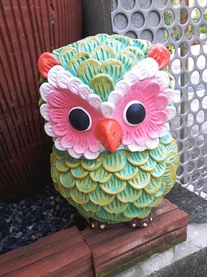 Colorful Owl royalty free stock image