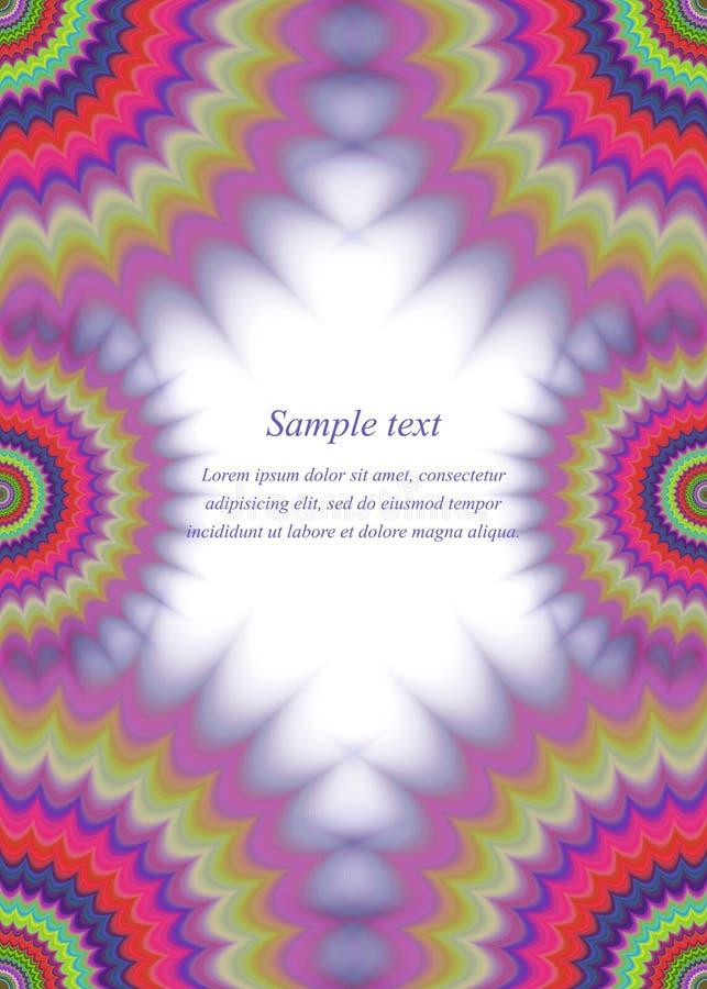 Colorful Page Border Fractal Ornament Design Stock Vector ...