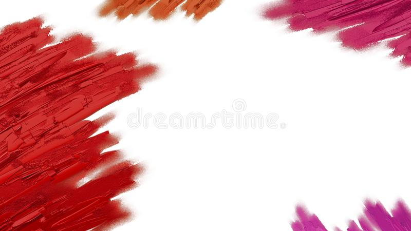 Colorful paint isolated on white background. For design work stock photos