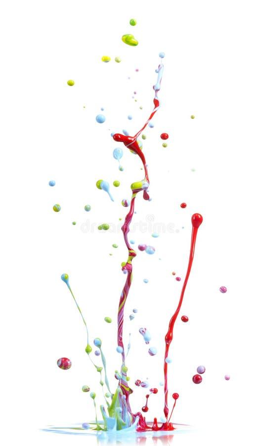 Download Colorful paint splash stock image. Image of liquid, color - 21029457