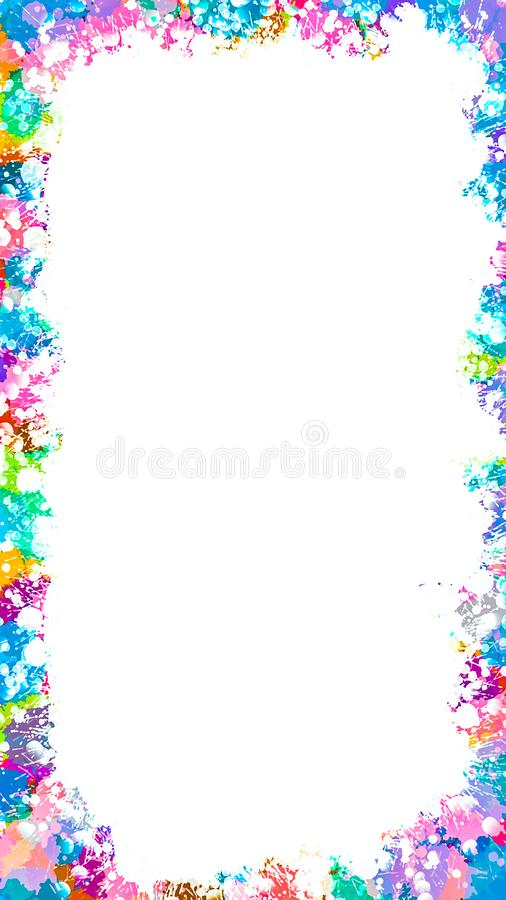 Colorful paint splash background ,beautiful art background. Colorful paint splash background ,beautiful art background royalty free illustration
