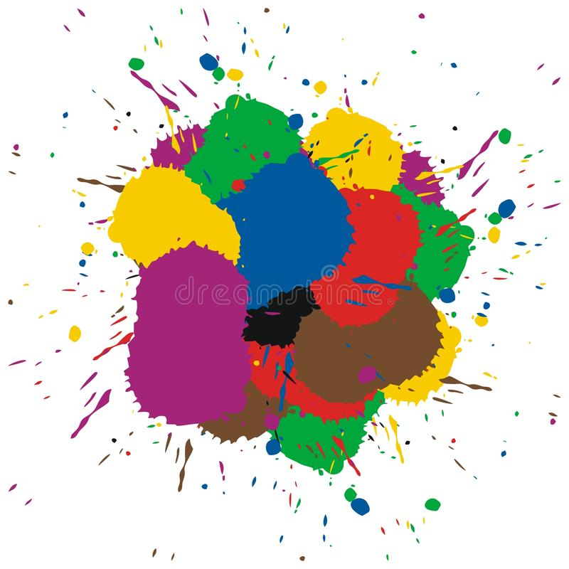 Download Colorful paint splashes stock vector. Image of elements - 13486866