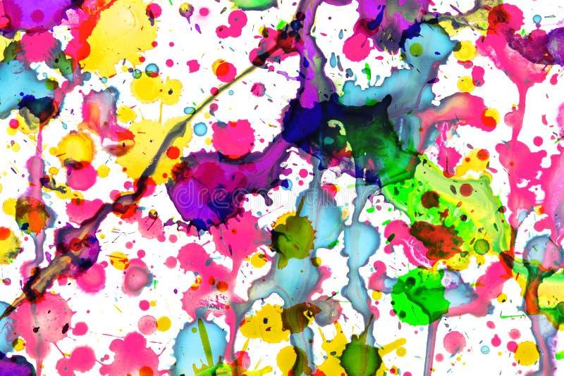 Colorful paint splashes on white, art design vector illustration