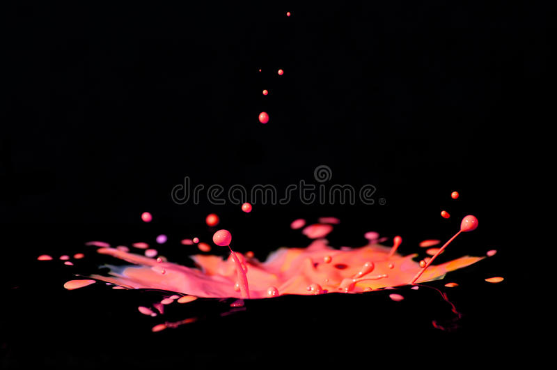 Download Colorful Paint Splashing On Black. Stock Image - Image: 38013485