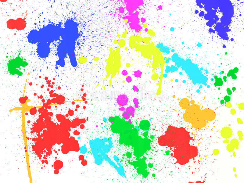 Colorful paint stains and blobs. Background royalty free illustration