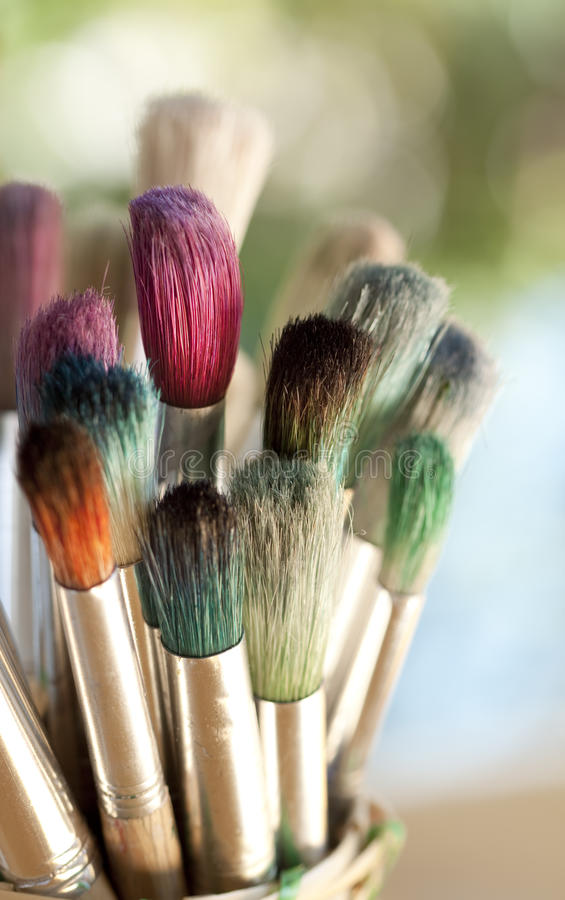 Download Colorful Paintbrushes stock photo. Image of space, paint - 23297400