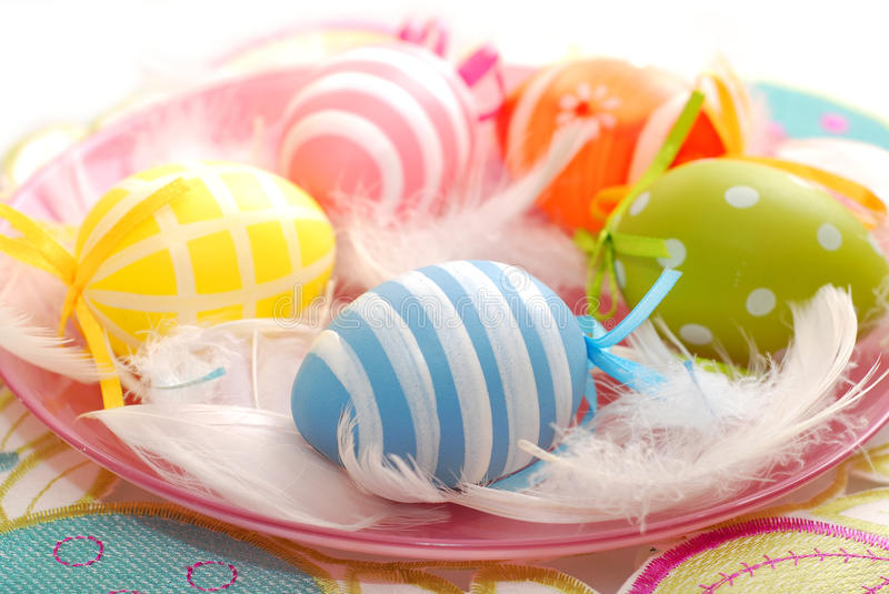 Download Colorful Easter Eggs On The Plate Royalty Free Stock Photos - Image: 29944868