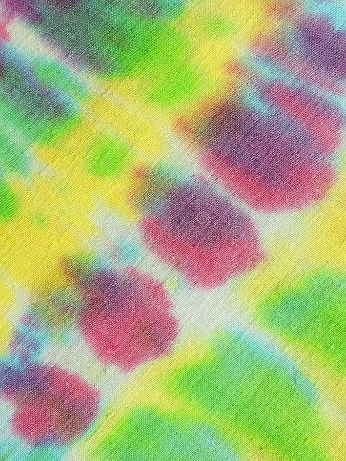 Colorful painted fabric abstract royalty free stock photo