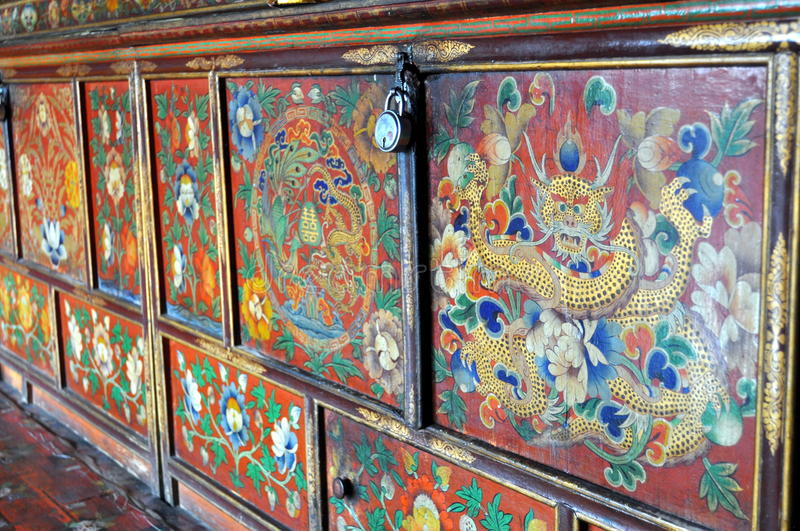 Superieur Download Colorful Painted Furniture From Buddhist Monastery Stock Photo    Image Of Eyes, Dharma: