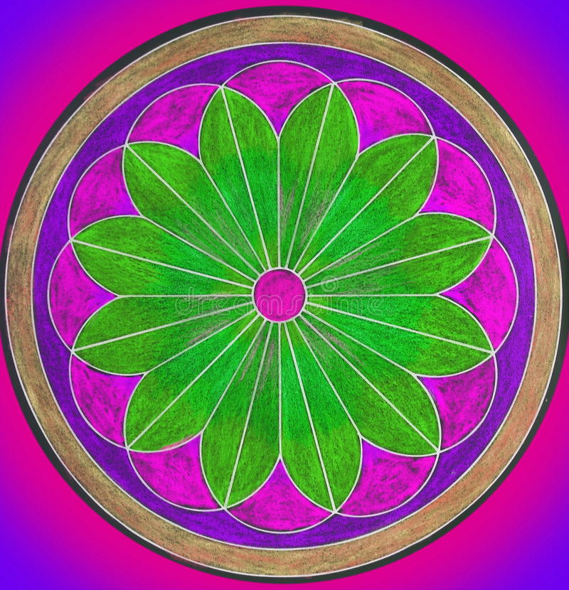 Colorful painted mandala. Can use as background stock images