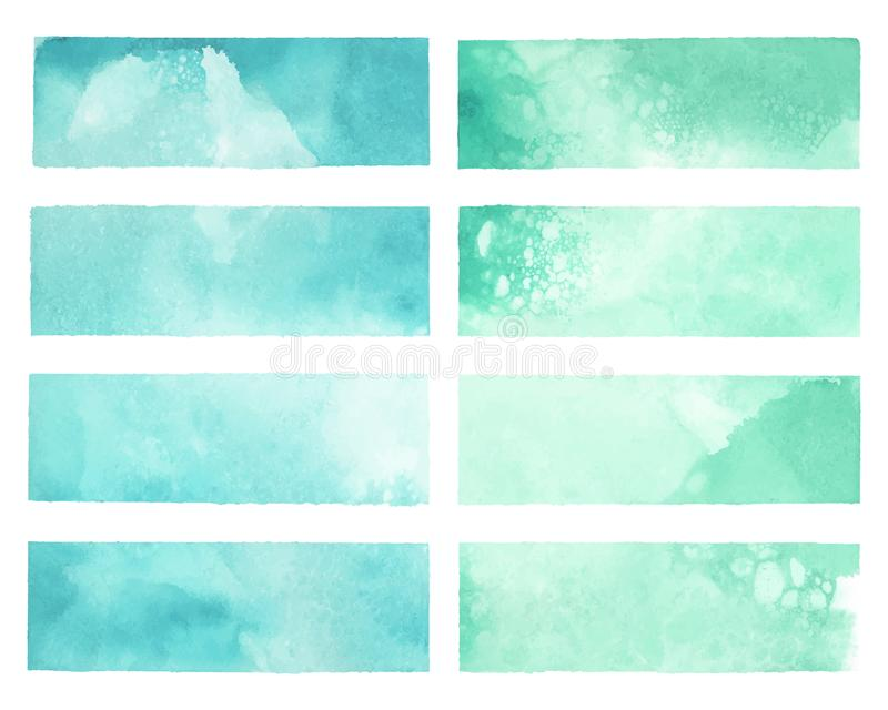 Colorful painted watercolor backgrounds vector royalty free illustration