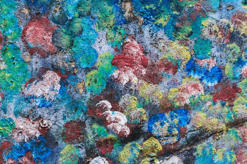 Colorful painted watercolor texture of wall stock photos