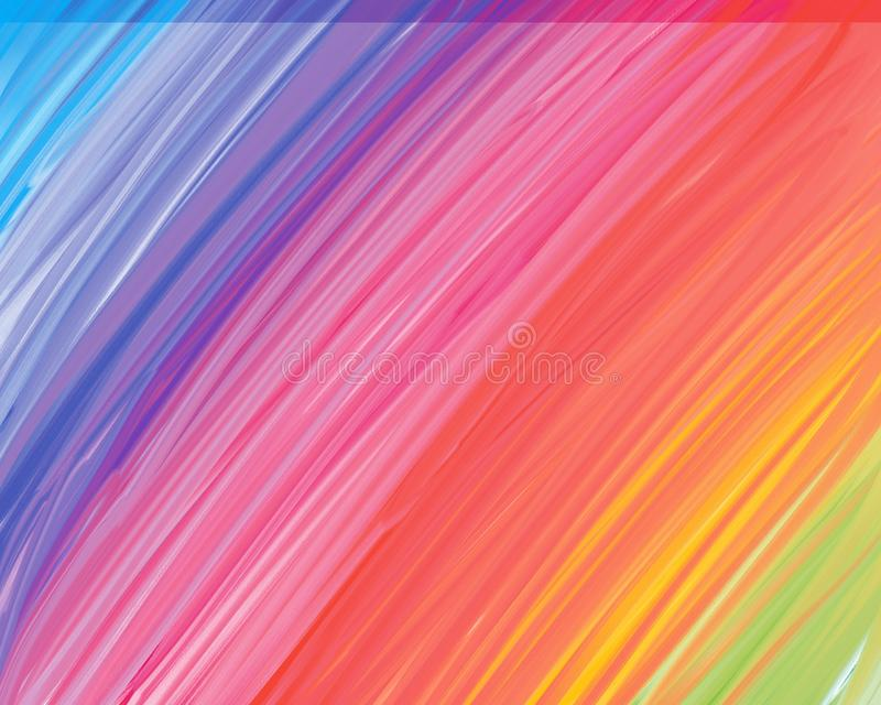 Colorful painting abstract background - Rainbow background vector illustration