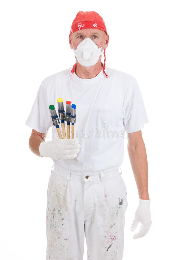 Colorful painting with safety mask
