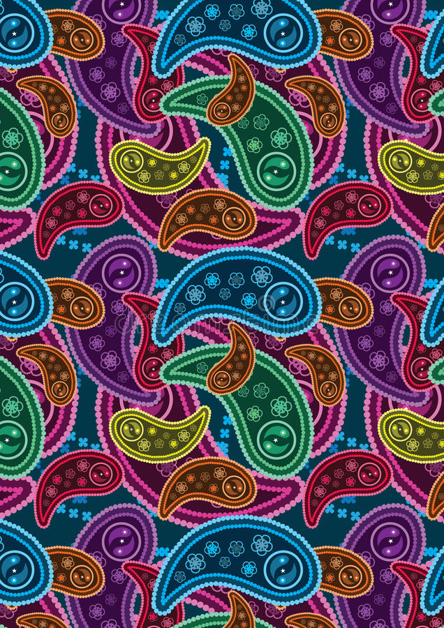 Colorful Paisley Background_eps vector illustration