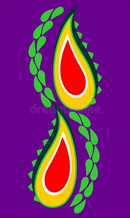 Colorful paisley designing element for use in garment , laser cutting and printing , computer generated design. Useful for many purpose like , printing , screen vector illustration