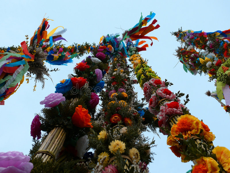 Colorful palms - Polish Easter tradition. Every year in the small town of Lipnica (Krakow district, Poland) is organized the contest for the biggest and the most
