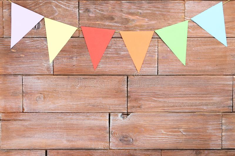 Colorful paper flags stock photos