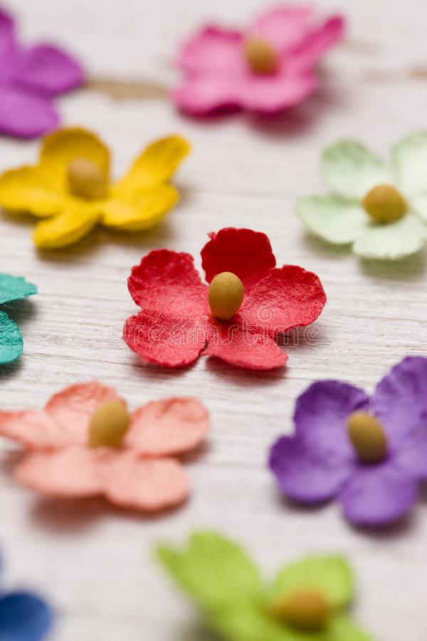 Paper Flower Background. A Colorful Paper Flower Background stock image