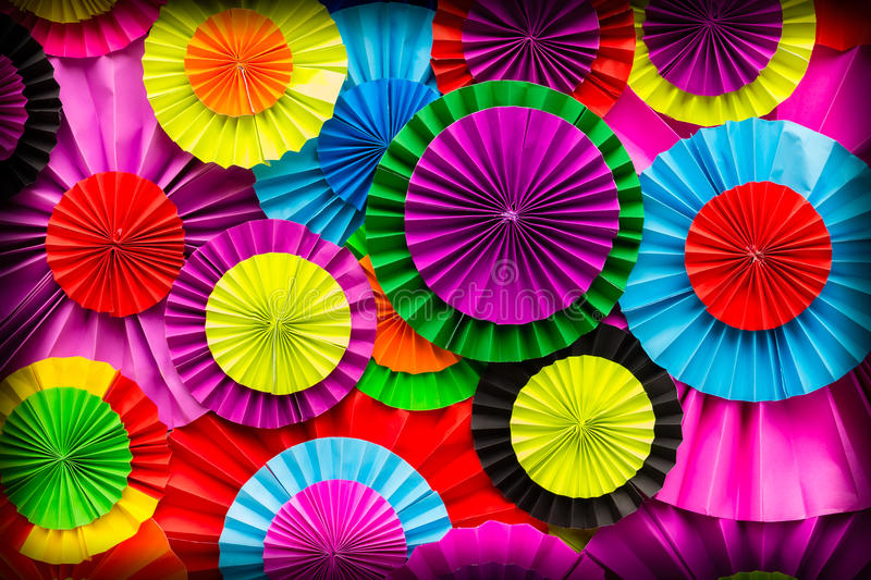 Colorful paper flower background. Colorful paper flower abstract for background royalty free stock photos