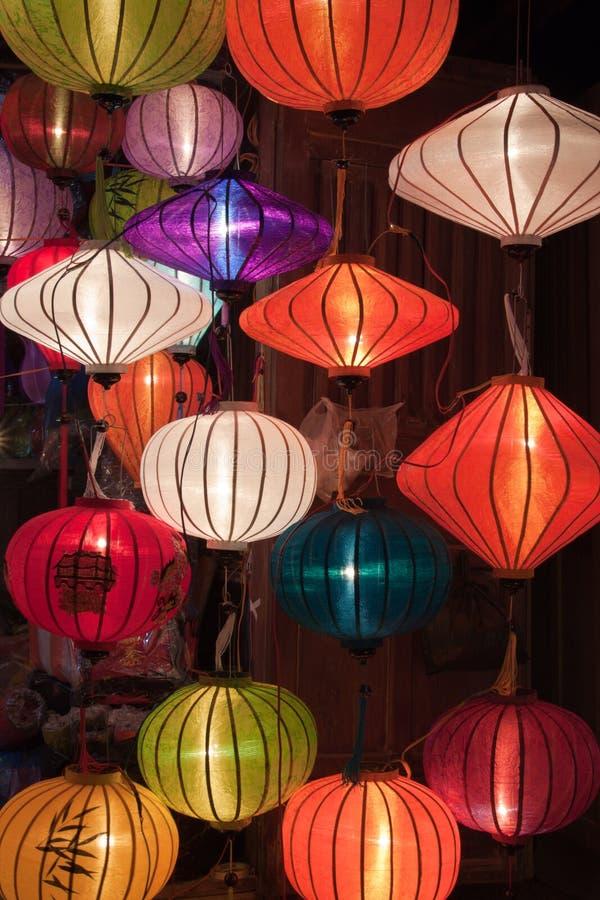 Colorful paper lanterns stock photo