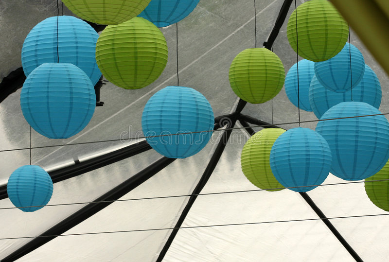 Download Colorful paper lanterns stock photo. Image of decoration - 5580334