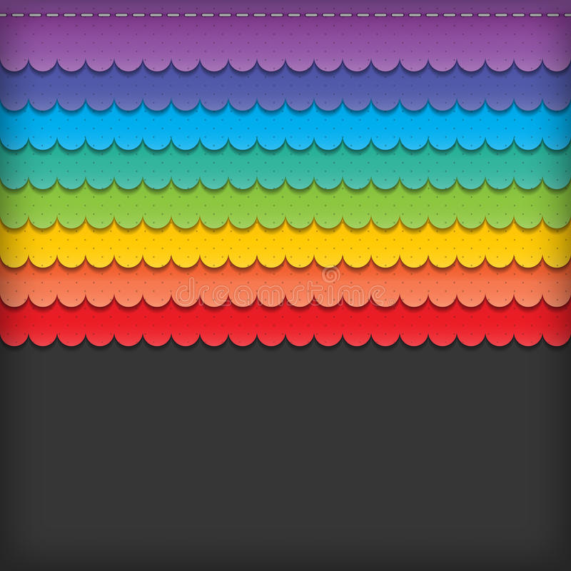 Colorful paper stock illustration