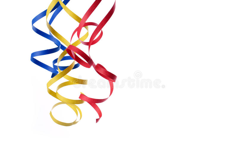 Colorful paper streamer. Isolated on white background royalty free stock photo