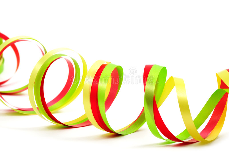 Colorful Paper Streamer Stock Photo