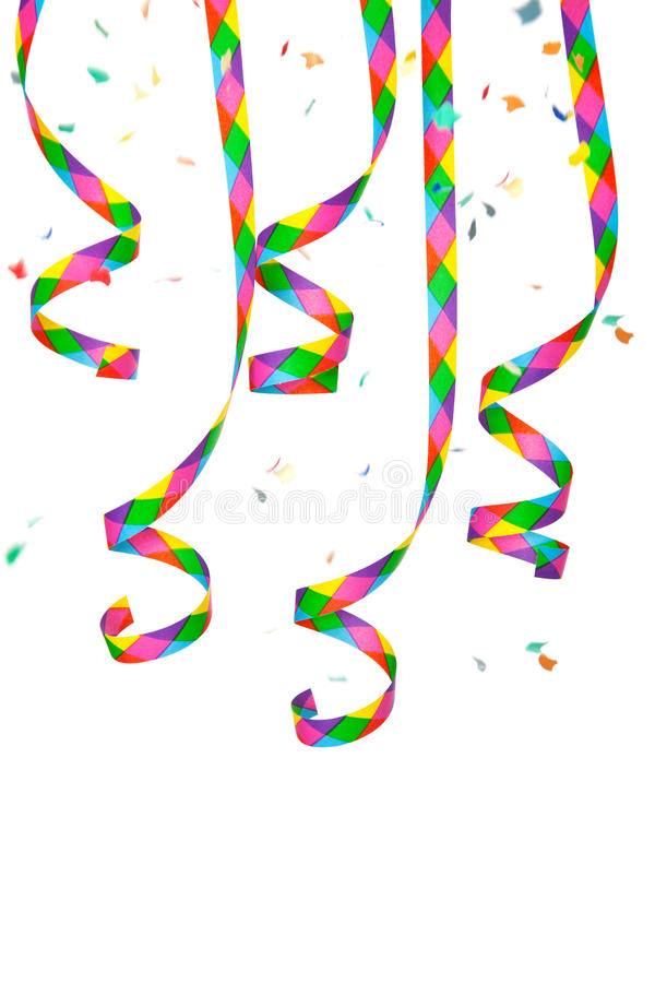 Download Colorful Paper Streamer And Confetti Stock Image - Image of party, streamer: 25655625