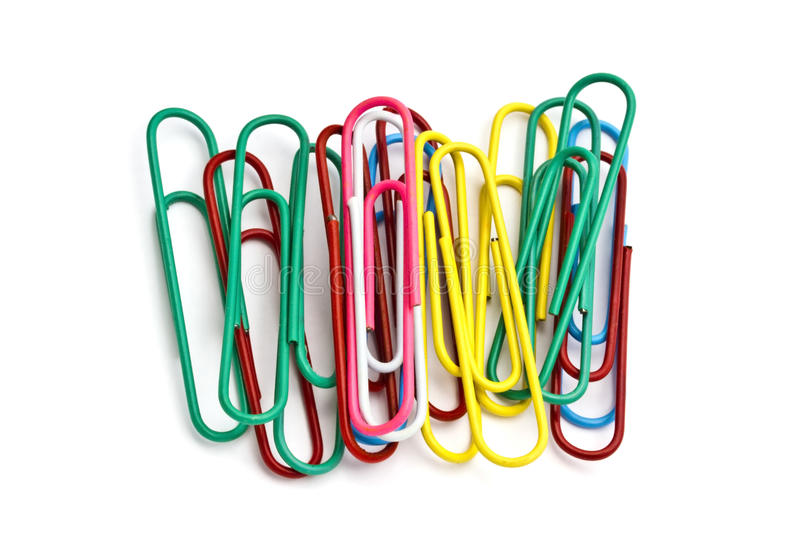 Download Colorful paperclips stock photo. Image of accessory, colorful - 19030464