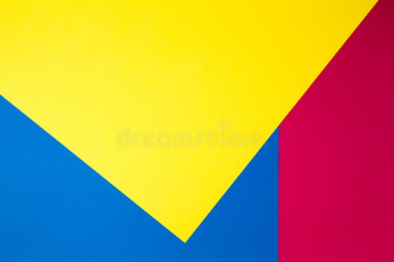 Colorful papers geometry flat composition background royalty free stock photo