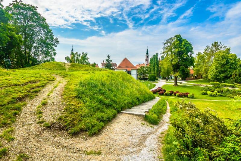 Colorful park in Varazdin, Croatia. royalty free stock photo